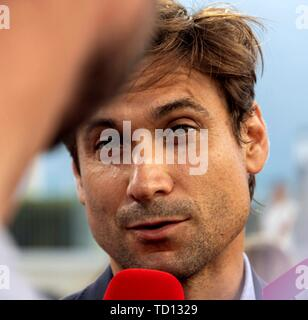 Manacor, Spain. 11th June, 2019. Spanish tennis player David Ferrer attends the graduation ceremony of Rafa Nadal Academy, students of American International School of Mallorca, in Manacor, Balearic Islands, Spain, 11 June 2019. Credit: CATI CLADERA/EFE/Alamy Live News - Stock Photo