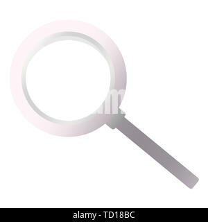 Magnifying loupe icon. Search symbol  illustration on white background. - Stock Photo