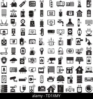 Smart home icons set. Simple set of smart home vector icons for web design on white background - Stock Photo