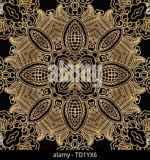 abstract tracery vintage pattern on a dark background. - Stock Photo