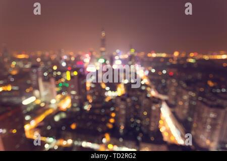 Defiance city lights - Stock Photo