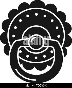Pacifier icon. Simple illustration of pacifier vector icon for web design isolated on white background - Stock Photo