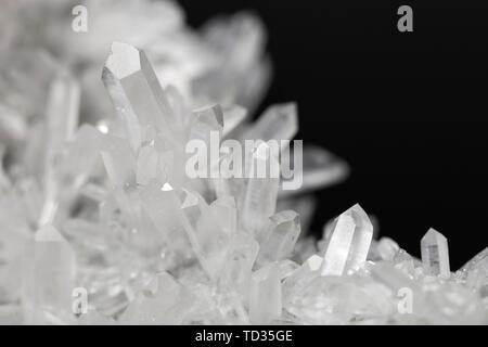 Crystal Quartz Stone Rock Gem Specimen Mineral Stone - Stock Photo
