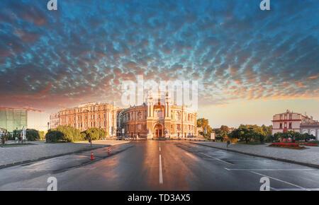 Opera House in Odessa, Ukraine. Odessa State Academic Opera and Ballet Theater - Stock Photo