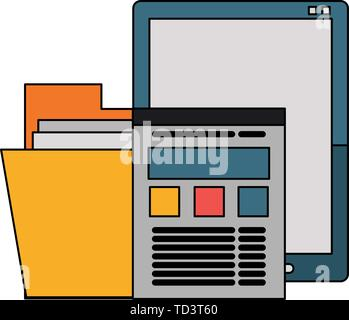 Office and business technology symbols - Stock Photo