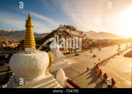 Potala Palace, Lhasa, Tibet Autonomous Region - Stock Photo