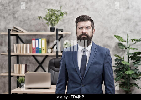 Recruiter professional occupation. HR manager. Man bearded manager recruiter in office. Recruiter career. Human resources. Hiring concept. Recruitment department. Job interview. Welcome team member. - Stock Photo