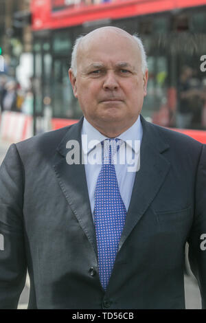 London, UK. 12th June, 2019. Iain Duncan Smith, Conservative Party Member of Parliament for Chingford arrives at Parliament. Credit: Amer Ghazzal/SOPA Images/ZUMA Wire/Alamy Live News - Stock Photo
