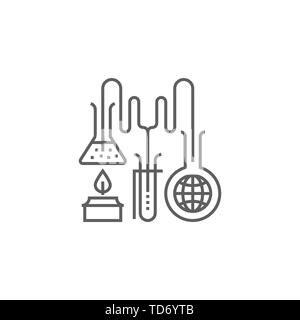 Research Related Vector Thin Line Icon. Isolated on White Background. Editable Stroke. Vector Illustration. - Stock Photo