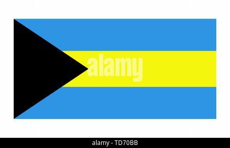 Bahamas flag illustration - Stock Photo