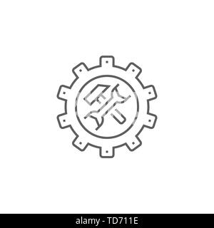 Technical Support Related Vector Thin Line Icon. Isolated on White Background. Editable Stroke. Vector Illustration. - Stock Photo