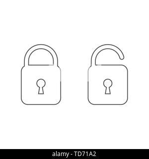 Lock vector icon - Stock Photo