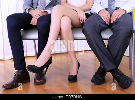 People waiting for job interview - Stock Photo