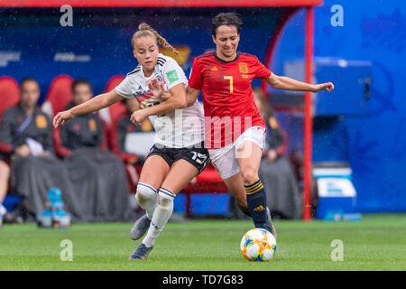 Valenciennes, France. 12th June, 2019. during the FIFA Women's World Cup France 2019 Group B match between Germany 1-0 Spain at Hainaut Stadium in Valenciennes, France, June12, 2019. Credit: Aflo Co. Ltd./Alamy Live News - Stock Photo