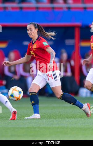 Valenciennes, France. 12th June, 2019. during the FIFA Women's World Cup France 2019 Group B match between Germany 1-0 Spain at Hainaut Stadium in Valenciennes, France, June12, 2019. Credit: Maurizio Borsari/AFLO/Alamy Live News - Stock Photo