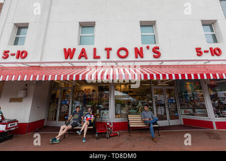 Bentonville, Arkansas - The Walmart Museum, housed in the Walton's 5&10, which Sam Walton opened in 1950. - Stock Photo