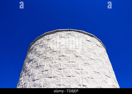 Parque de la Bateria observation tower exterior partial view at Torremolinos, Province of Malaga, Andalusia, Spain - Stock Photo