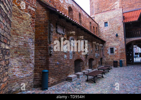 Gdansk, Poland - February 05, 2019: Torture House and Prison Tower in Main Town. Gdansk, Poland - Stock Photo