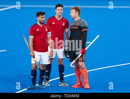 LONDON, UNITED KINGDOM. 14th Jun, 2019.   during FIH Pro League match: Great Britain vs Netherlands at Lea Valley Hockey and Tennis Centre on Friday, June 14, 2019 in LONDON ENGLAND. Credit: Taka G Wu/Alamy Live News - Stock Photo