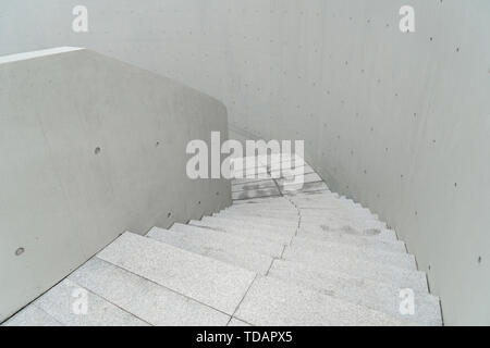 Down the stairs. - Stock Photo