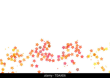 Bunch of colored stars on white background. - Stock Photo