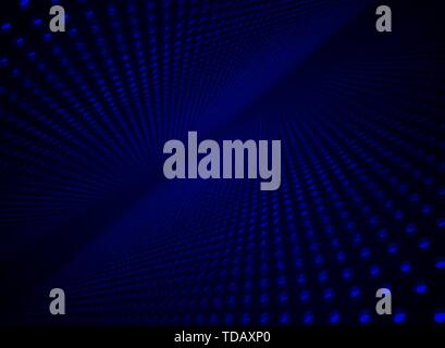 Abstract technology futuristic data visualization particle dynamic blue dots pattern on darkness background and texture with copy space. Vector illust - Stock Photo