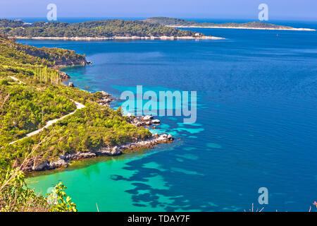 Dubrovnik archipelago coastline view near Cavtat, Konavle region of Dalmatia, Croatia - Stock Photo