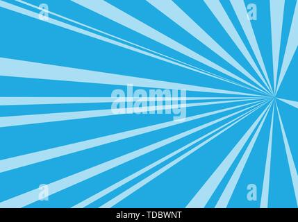 Abstract blue tone speed zoom direction for comic background vector illustration. - Stock Photo
