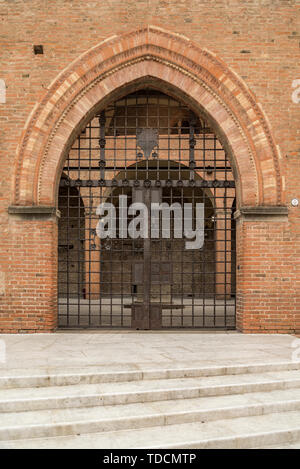 The King Enzo palace in Maggiore square, Bologna, Italy - Stock Photo
