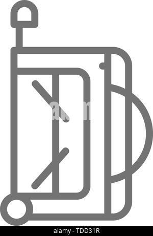 Hockey sports bag line icon. - Stock Photo