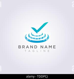 Tick Logo design is on the stage for your Business or Brand. - Stock Photo