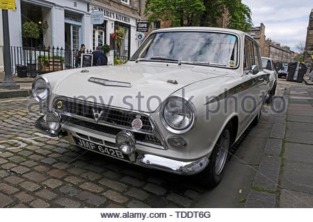 Classic Ford Consul Cortina from 1964 on display at the West End Classic Vehicle event in Edinburgh, Scotland - Stock Photo