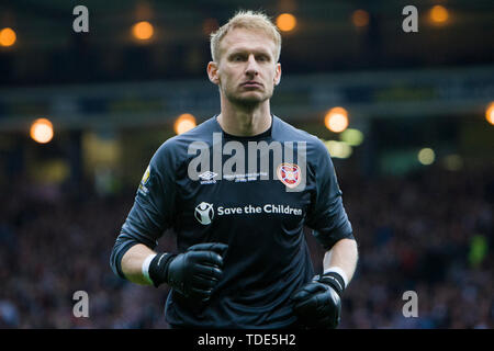 Glasgow, Scotland, May 25th 2019. Zdenek Ziamal of Hearts during the William Hill Scottish Cup final between Celtic and Hearts at Hampden Park on May 25th 2019 in Glasgow, Scotland. Editorial use only, licence required for commercial use. No use in Betting, games or a single club/league/player publication. Credit: Scottish Borders Media/Alamy Live News - Stock Photo