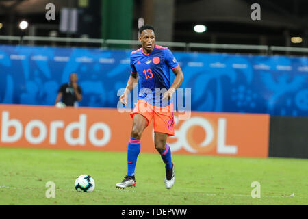 Salvador, Brazil. 15th June, 2019. Mina da Colombia durante partida volida pelo Grupo B da Copa America 2019, na Arena Fonte Nova, em Salvador, neste sobado (15). Credit: ZUMA Press, Inc./Alamy Live News - Stock Photo