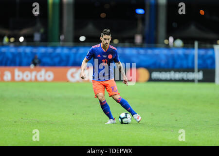 Salvador, Brazil. 15th June, 2019. James Rodriguez da Colombia durante partida volida pelo Grupo B da Copa America 2019, na Arena Fonte Nova, em Salvador, neste sobado (15). Credit: ZUMA Press, Inc./Alamy Live News - Stock Photo