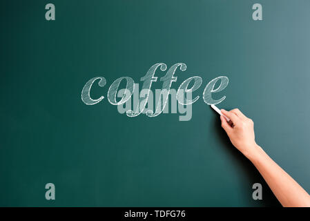 coffee,written on blackboard - Stock Photo