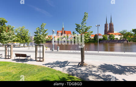 Wroclaw in Poland. Old quater with gothic architecture - Stock Photo