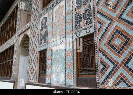 in azerbaijan sheki the old architecture in the town protect by unesco - Stock Photo