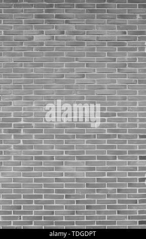 High resolution full frame background of detailed new brick wall in black and white. - Stock Photo