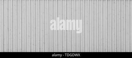 Full frame background of a new, clean and painted wood board wall painted in black and white. - Stock Photo