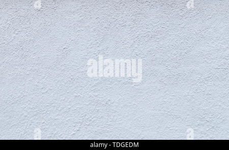 High resolution full frame background of a rough plastered concrete wall in light blue or white color. - Stock Photo