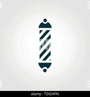 Barber Symbol vector icon symbol. Creative sign from barber shop icons collection. Filled flat Barber Symbol icon for computer and mobile - Stock Photo