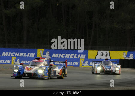 Le Mans, Sarthe, France. 16th June, 2019. Panis Barthez Competition LIGIER JSP217 Gibson rider JULIEN CANAL (FRA) in action during the 87th edition of the 24 hours of Le Mans the last round of the FIA World Endurance Championship at the Sarthe circuit at Le Mans - France Credit: Pierre Stevenin/ZUMA Wire/Alamy Live News - Stock Photo