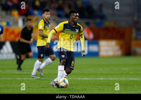 Gdynia, Poland. 14th June, 2019. Jose Cifuentes (ECU) Football/Soccer : FIFA U-20 World Cup Poland 2019 match for 3rd place between Italy 0-1 Ecuador at the Gdynia Stadium in Gdynia, Poland . Credit: Mutsu KAWAMORI/AFLO/Alamy Live News - Stock Photo