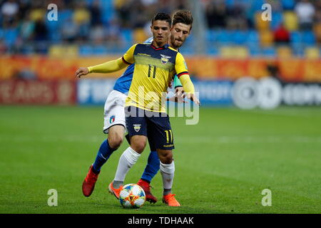 Gdynia, Poland. 14th June, 2019. Alexander Alvarado (ECU) Football/Soccer : FIFA U-20 World Cup Poland 2019 match for 3rd place between Italy 0-1 Ecuador at the Gdynia Stadium in Gdynia, Poland . Credit: Mutsu KAWAMORI/AFLO/Alamy Live News - Stock Photo