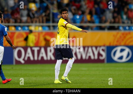 Gdynia, Poland. 14th June, 2019. Luis Loor (ECU) Football/Soccer : FIFA U-20 World Cup Poland 2019 match for 3rd place between Italy 0-1 Ecuador at the Gdynia Stadium in Gdynia, Poland . Credit: Mutsu KAWAMORI/AFLO/Alamy Live News - Stock Photo
