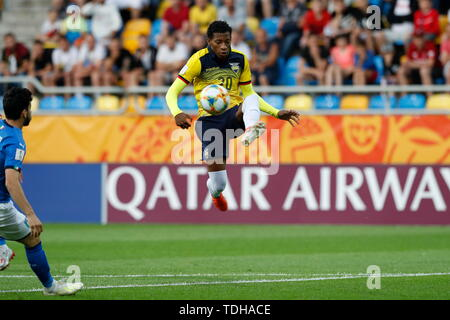 Gdynia, Poland. 14th June, 2019. Gonzalo Plata (ECU) Football/Soccer : FIFA U-20 World Cup Poland 2019 match for 3rd place between Italy 0-1 Ecuador at the Gdynia Stadium in Gdynia, Poland . Credit: Mutsu KAWAMORI/AFLO/Alamy Live News - Stock Photo