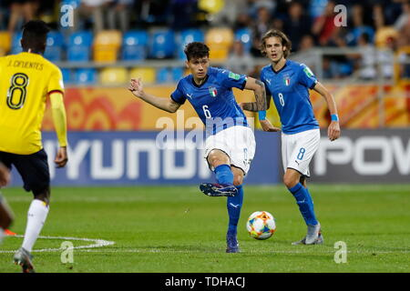 Gdynia, Poland. 14th June, 2019. Davide Bettella (ITA) Football/Soccer : FIFA U-20 World Cup Poland 2019 match for 3rd place between Italy 0-1 Ecuador at the Gdynia Stadium in Gdynia, Poland . Credit: Mutsu KAWAMORI/AFLO/Alamy Live News - Stock Photo