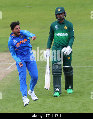 Manchester, UK. 16th June, 2019. during the India v Pakistan, ICC Cricket World Cup match, at Old Trafford, Manchester, England. Credit: European Sports Photographic Agency/Alamy Live News - Stock Photo