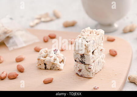 China Taiwan net red snack snowflake crisp (peanut crisp sugar) - Stock Photo